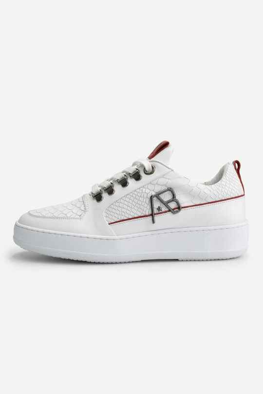 AB LIFESTYLE SNEAKER WIT ROOD