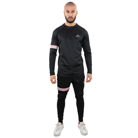 DONZA POLYESTER SUIT ZWART ROZE