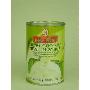 Artnr.3001 Young coconut meat in syrup 440g Mae Ploy
