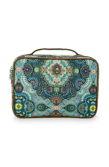 PS Cosmetic Bags - Beauty Case Square Large Moon Delight Blue