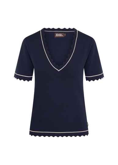 4FF - Shirtje donkerblauw 'Our love's in danger'
