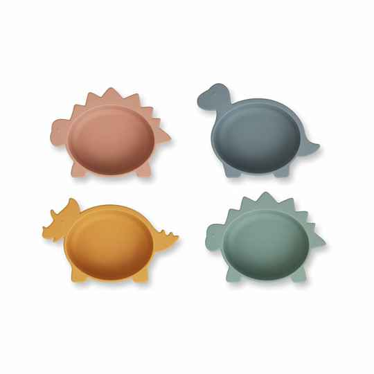 Liewood Iggy silicone bowls 4-pack dino