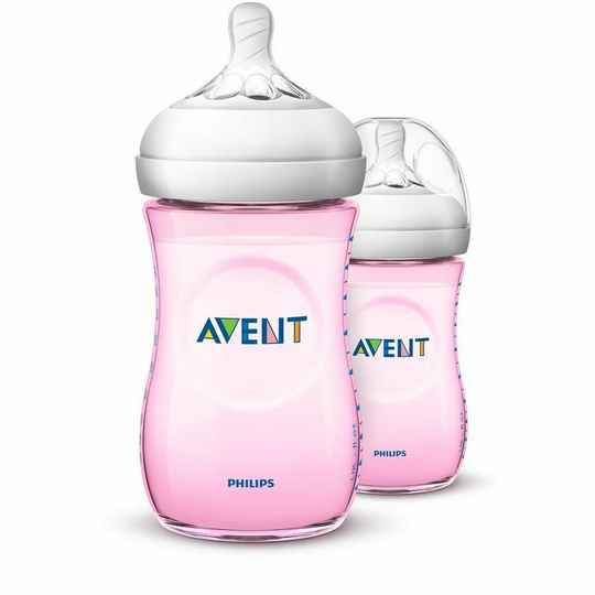 Avent zuigfles natural duo 2x 260ml roze