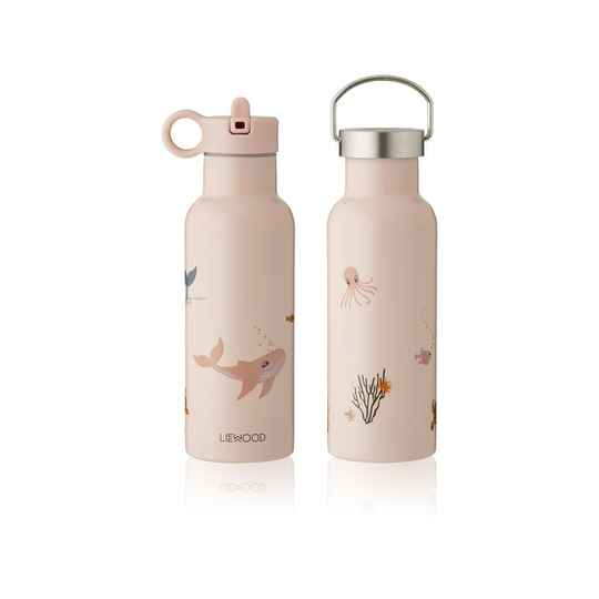 Liewood neo water bottle  sea creature rose mix
