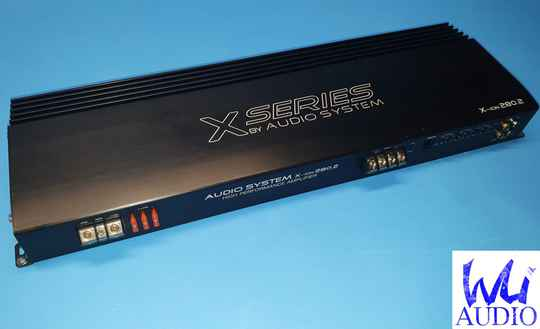 Audio System X-ion 280.2 1480W RMS A/b 2 ch/ mono amplifier