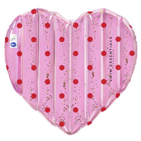 Roze hart luchtbed