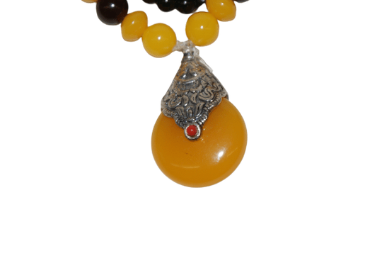 Tibetan necklace orange