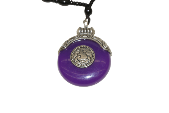 Traditional Tibetan necklace purple