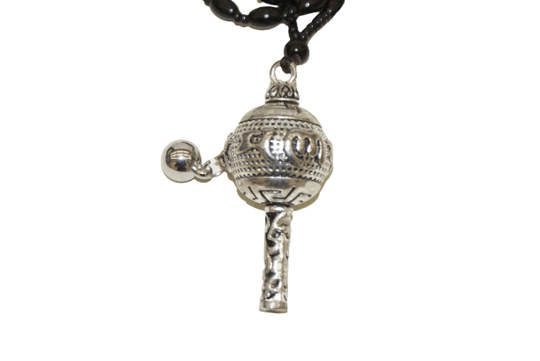 Tibetan hand wheel necklace