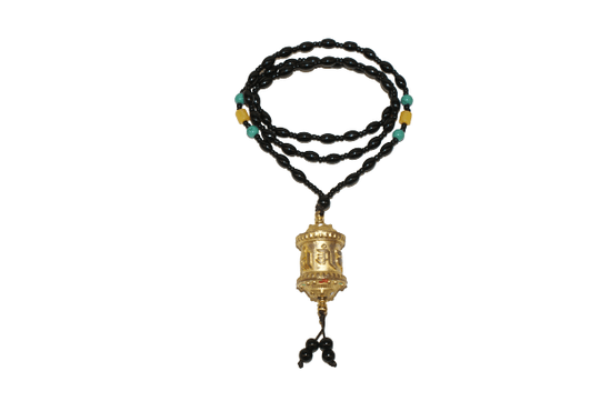 Prayer wheel necklace