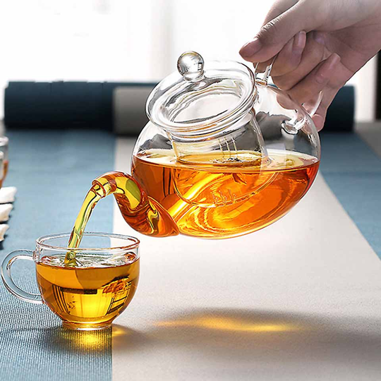 Glass tea set heat resistant