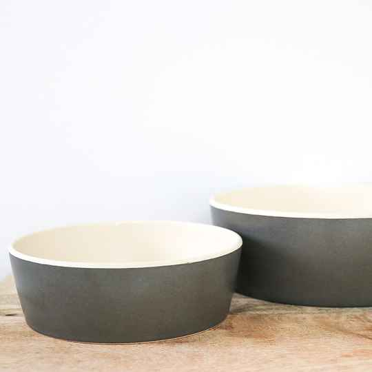Grey bamboo bowl