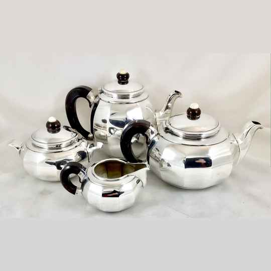 Art Deco coffee service, Brussels 1925-1935, sterling silver
