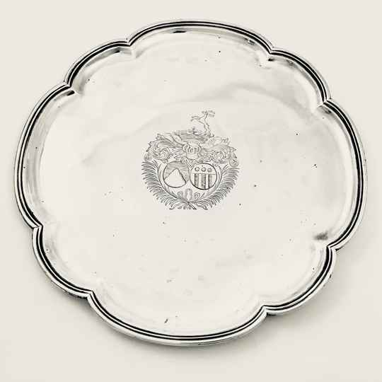 Tazza, The Hague 1709, Adriaan Havelaar, silver