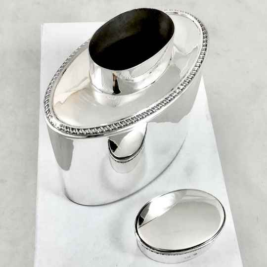Tea Caddy, Sterling Silver, Birmingham 1920