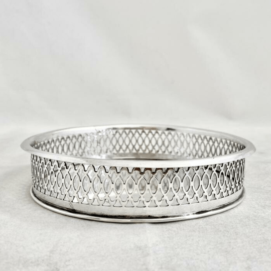Pair of sterling silver coasters, Italy, early XIXth century