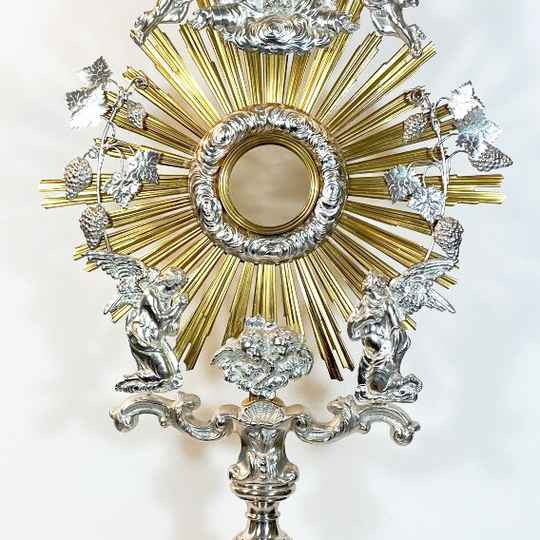 Colossal Monstrance, sterling silver and vermeil, middle 19thcentury, Bruges, 88,5 cm