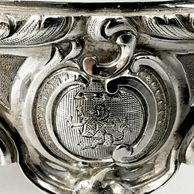 Royal silver stove from the service of the Count of Flanders, Philippe de Belgique
