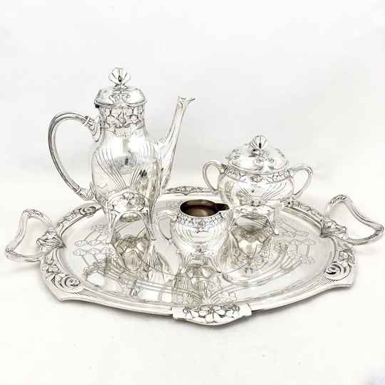 Coffee Set, Art Nouveau, Christofle, Gallia, Silver-Plated