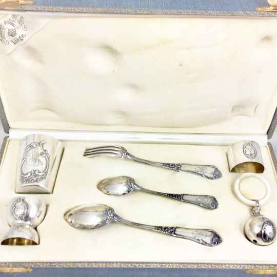 Christening set, Wolfers, 1890-1910, sterling silver