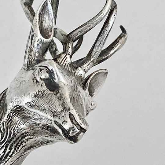 Large Deer In Sterling Silver (916 ‰), Spain, 1950s