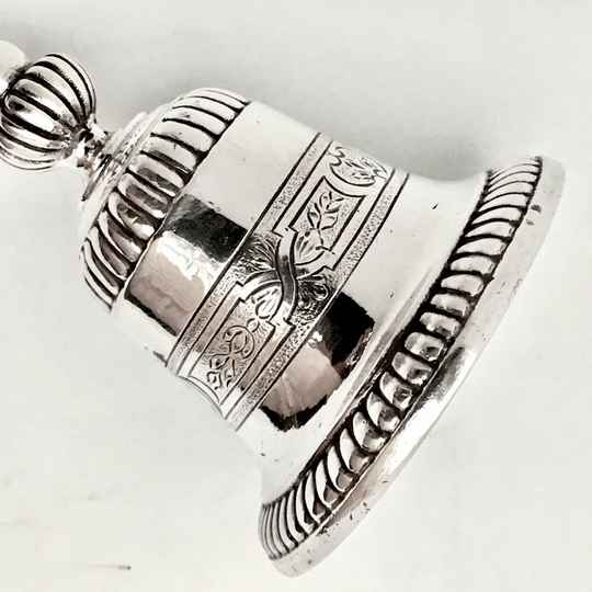 Table bell, Louis XIV, France, silver plated