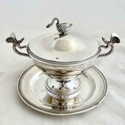 Covered Bowl - Lyon 1819-38, Sterling Silver, François Soccard, Empire