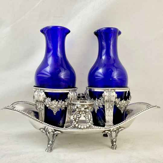 Louis XVI cruet, Paris 1785, sterling silver
