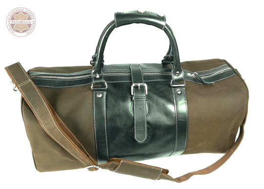 Hudson bay - Grey-brown-leather-travel-bag. +  Heren portemonnee ''high class'' 50 x 25 x 25 - Comby deal!