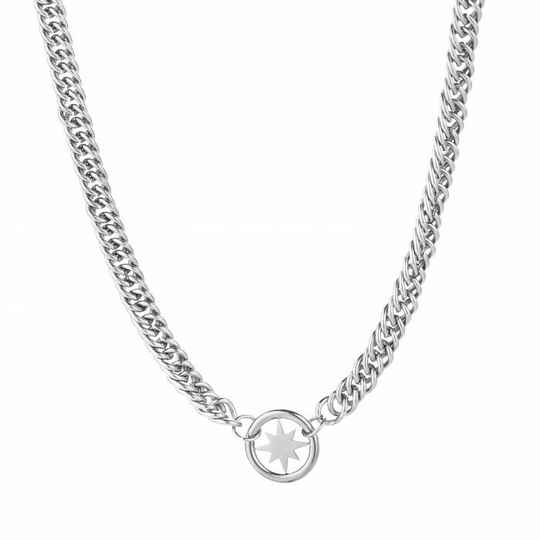 Chunky morning star necklace - SILVER