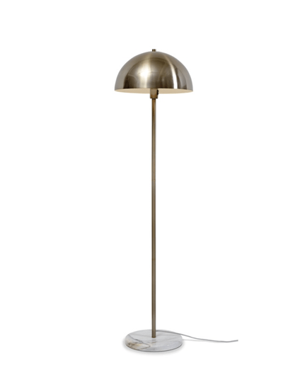Floor lamp iron/marble Toulouse white/gold