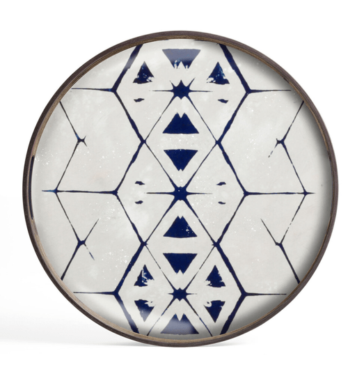 Plateaus - Ethnicraft - Tribal Hexagon glass tray S