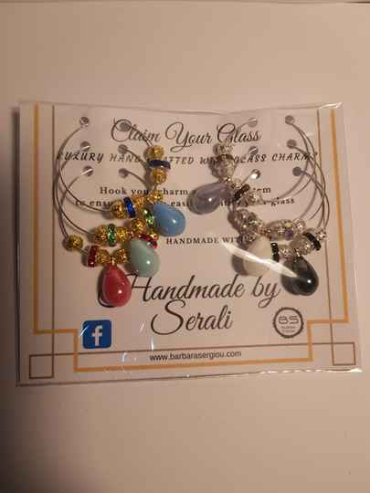 Wine Glass Charms - drops