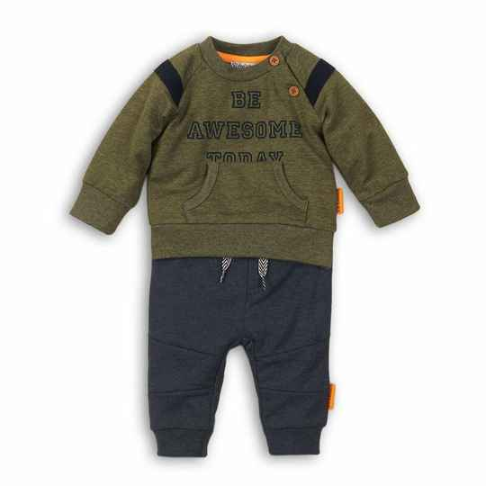 Dirkje - 2-delig setje army green/navy melee - So Bright Be Awesome Today
