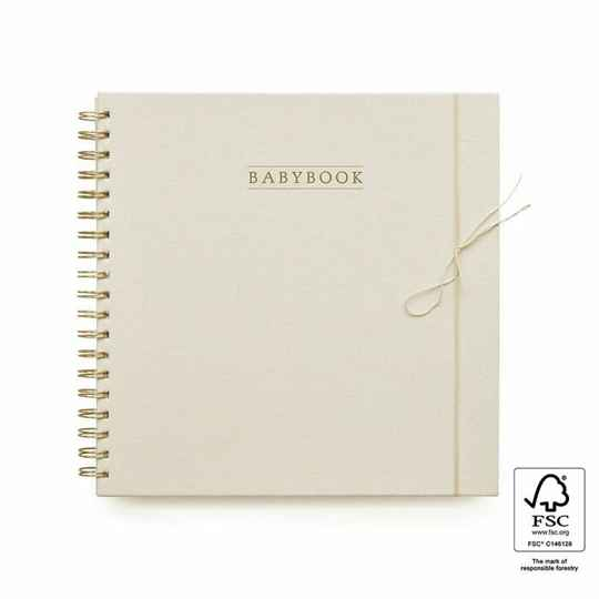 Baby Book - Linen Ivory - House of Products
