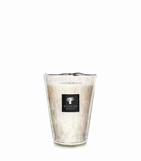 Baobab Scented Candle White pearls MAX24
