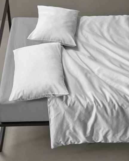 Society Pillow Cases Peach, color Bianco (set of two)