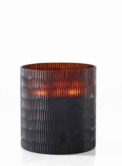 Onno Scented Candle Rhombus Amber, Ginger Fig, large Ø18xH20
