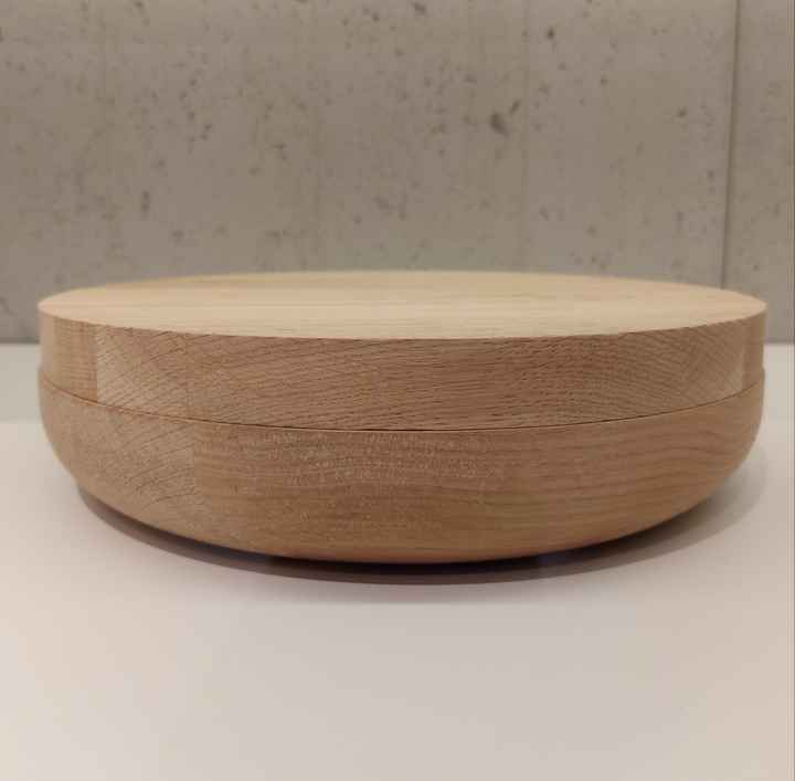 Wow VVD-pottery large full oak ø30 / oak lid 3053