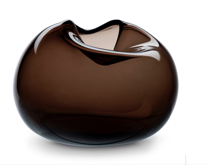 When Object Works - Pebble Vase black - brown