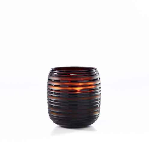 Onno Scented Candle Sphere Amber, Ginger Fig, Large Ø19xH20
