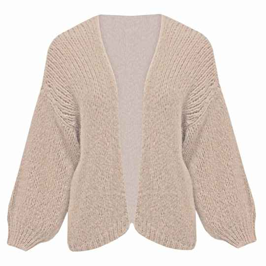 Cardigan knitted - beige
