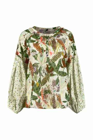 POM jungle kisses top - ecru