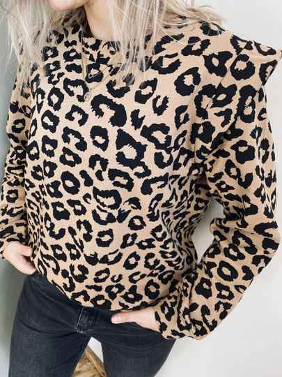Selected Femme sweater - Leopard