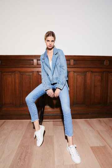 Homage to denim - Cropped jeans met rafel onderkant