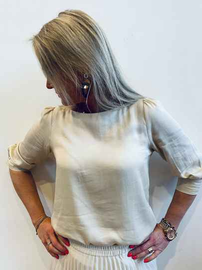Selected Femme top - zand