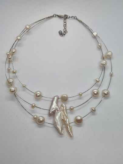 """Zoetwaterparel collier """"Flying Pearls"""""""