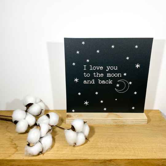 Decoratie bord love you to the moon