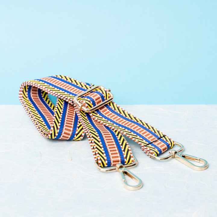 PiNNED by K strap blue yellow