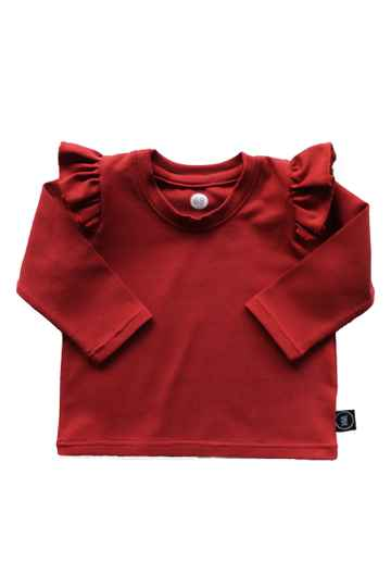 Ruffle top -  Roest rood -